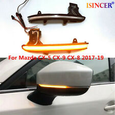 LED Dynamic Turn Signal Light Mirror Indicator For Mazda CX-5 CX-9 CX-8 17-2019