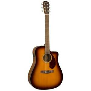 Semi-Acoustic Guitar, Fender CD-140SCE Dreadnought Electro Acoustic WN, Sunburst