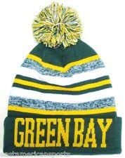 Green Bay Packers Green / Yellow Classic POM Ball Knit Hat Cap Winter Ski Beanie