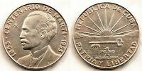 Centenario de Marti. 1 Peso 1953. EBC/XF. Plata 26,7 g. Brillo original
