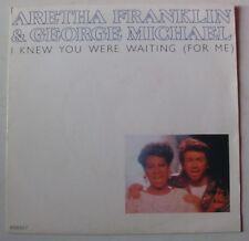 GEORGE MICHAEL + ARETHA FRANKLIN (SP 45 Tours) I KNEW YOU WERE WAITING