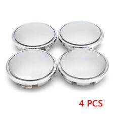 4Pcs 65mm Universal Chrome Car Wheel Center Caps Tyre Rim Hub Cap Cover Plastic