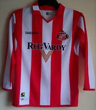 SUNDERLAND FOOTBALL CLUB 2004 LONG SLEEVE HOME SHIRT SIZE JM 9/10 SAFC DIADORA