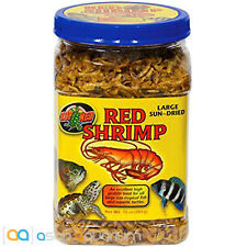 New listing Zoo Med Red Shrimp Fish Food 10 oz Jar Large Sun Dried High Quality Protein Rich