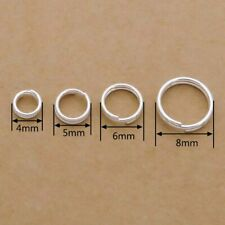 925 Sterling Silver Double Split Jump Rings 4 5 6 8mm Jewellery Making Findings