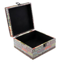 Vintage Wooden Jewelry Case Treasure Chains Necklace Jewelry Box Holder 02-S