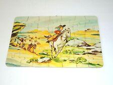 Vintage 1950s LITTLE BOY Cowboy Indians Jigsaw Puzzle Toy COMPLETE