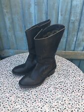 FLY LONDON - Black Leather - Mid Calf - Zip Up - Boots - UK 6
