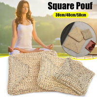 Square Pouf Tatami Cushion Pillow Chair Seat Pad Floor Tablemat Yoga Straw