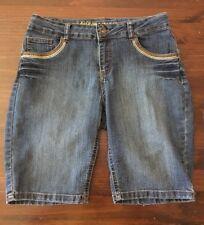 d0013847e2 Arizona Niñas Pantalones Cortos Talla 14 más oscuro Denim bordado de  recorte Ajustable Juniors