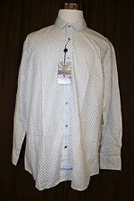 English Laundry Abbey Blue Button Front Shirt Flip Cuff Casual Club New NWT 2XL