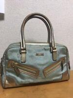 Authentic Gucci Handbag Mini Boston GG Canvas Monogram USED Women Purse G0187