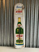 VINTAGE A-treat Beverages Ginger Ale Thermometer Sign 36x8.5