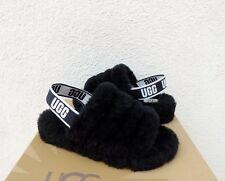 7d1822d4096 Black Slippers Fluffy Slipper Mules for Women for sale | eBay