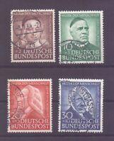 Bund 1953 - Wohlfahrt Mi.Nr. 173/176 rund gestempelt - Michel 100,00 € (382)