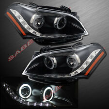 PAIR BLACK CCFL HALO PROJECTOR HEADLIGHTS w/LED PARKING FOR 2010-2011 KIA SOUL