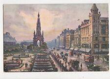 Princes Street Edinburgh Tuck Oilette Postcard 617a