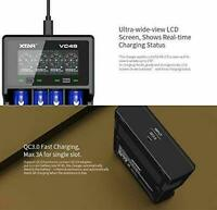 XTAR VC4S Li-ion 18650 BATTERY CHARGER CYLINDRICAL LCD USB NiMH BRAND NEW!!!