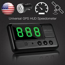 2018 Universal GPS HUD Digital Head Up Display Car Speeding Warning Plug&Play US