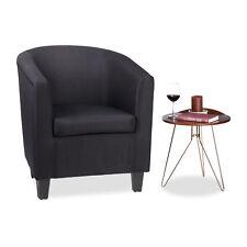 Retro Sessel schwarz Relaxsessel Polster Armsessel Lehnsessel Lesesessel Vintage