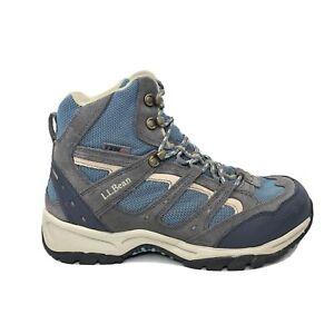 LL Bean Tell 2.5 Hiking Boots Womens Size 9 Wide Dri-Lex Gray Blue Shoes L.L.