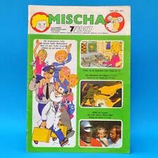 DDR Mischa 7/1987 Kinderzeitschrift   Hase und Wolf Kinder Kindergarten Schule A