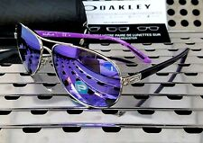 New Oakley 4079-23 FEEDBACK Aviator Sunglasses Violet Haze w/ Violet Polarized