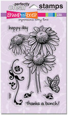 Stampendous ~ Daisy Thanks ~ Clear Stamp Set ~ Butterfly, Lady Bug, Happy Day