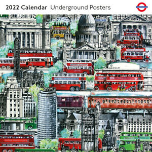 Museums & Galleries - London Underground Posters 2022 Square Wall Calendar