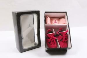 Nike Air Jordan 4 Retro 487219-601 Gift Pack Toddler Size 2C *Gently Used*