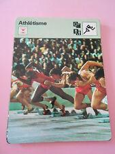 Athlétisme le plus ancien des sports Fiche Card 1977