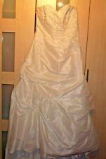 Spitze Brautkleid Hochzeitskleid A-Linie Gr.44-46 Braut Kleid Standesamt Glitzer