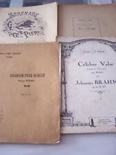 4 PARTITIONS  POUR  PIANO DE M . DUPRE , S . ROUSSEAU , J . BRAHMS , G . PIERNE