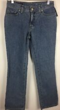 Lands End Women's Jeans Size 4 Straight Leg Mid Rise Denim NWT