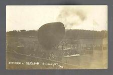 Bloomington WISCONSIN RP 1911 BALLOON ASCENSION Rupture nr Prairie du Chien