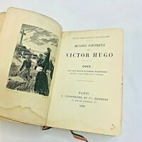 Antiquarian Book Poems Victor Hugo Paris France Charpentier