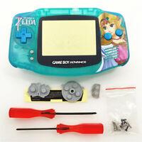 Zelda Princess Shell Case Housing for Game Boy Advance GBA - Light Green
