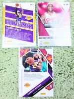 LEBRON JAMES 2020 Panini Mosaic Basketball Lot of 3 Los Angeles Lakers Cards MVP