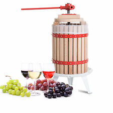 4.75 Gallon Wood Fruit Wine Press Cider Apple Grape Crusher Juice Maker Tool