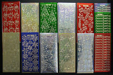 50 SHEETS OF CHRISTMAS PEEL OFFS, PRISMATIC, HOLOGRAPHIC OR DOUBLE EMBOSSED