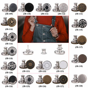 Jean Buttons No Sew Instant Buttons Adjustable Tool Free Replacement Metal Studs