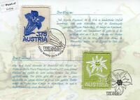 Austria 2008 Embroidered Flowers FDC JK1563