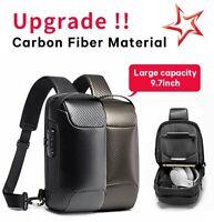 BANGE Men Upgrade Shoulder Sling Bags Carbon Fiber Crossbody Bag Waterproof New
