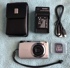 Canon PowerShot A3300 IS 16.0MP Digital Camera -Silver~~Nr Mint~~8GB SD~Bundle~~