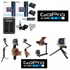 Battery for GoPro HD HERO4 Black & Silver 2PCS + Dual Charger + BRACKET TRIPOD