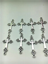 8PCS Cross Tibetan Silver pendants  30*16mm DIY Jewelry @8