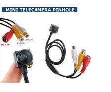 TELECAMERA MICRO PINHOLE OBIETTIVO MINI CCD MICROFONO ESTERNO COLORI VIDEOSORV
