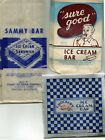 Lot of 30 Vintage Old Ice Cream Bags/Wrappers.  3 Different.