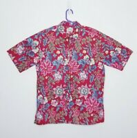 Reyn Spooner XL Hawaiian Aloha Shirt Mens Tropical Floral Red Green Blue
