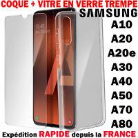 Coque Housse + Verre Trempé Pour Samsung A10 A20 A30 A40 A50 A70 A80 Protection
